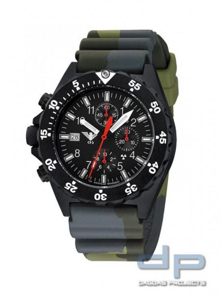 KHS Shooter Chronograph Diverband Camo Oliv