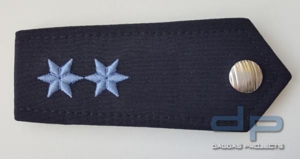 ETZEL Schulterklappen Paar mit Druckknopf Ausführung Hessen 2 Sterne Blau
