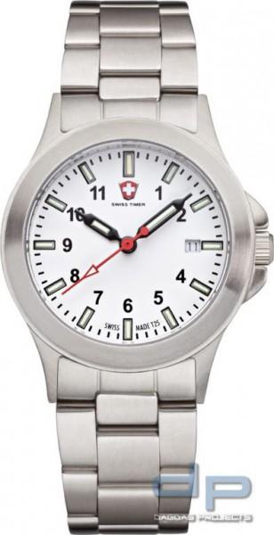 SWISS TIMER Classic H3 Uhr Edelstahlband