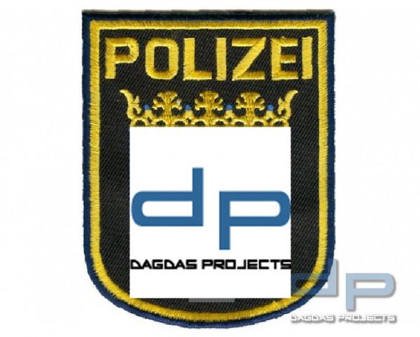 Gesticktes Abzeichen mit Klett Polizei Hessen