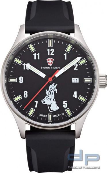 SWISS TIMER Trapper H3 Uhr Rehbock Silikonband