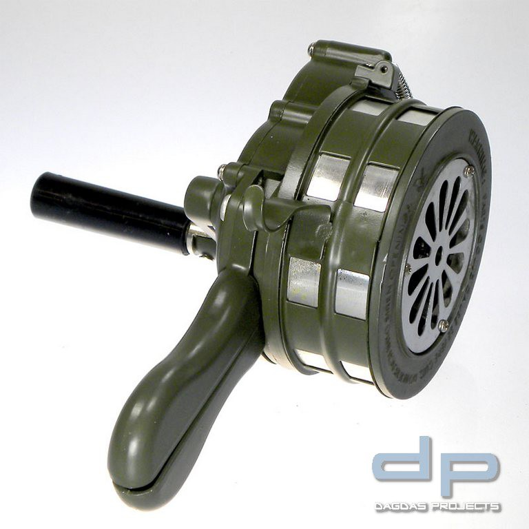 110dB Sirene Handsirene Aluminiumgehäuse Handkurbel Sicherheit Sirene Alarm
